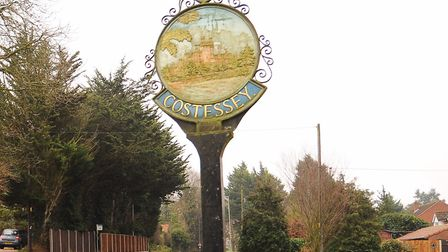 The Costessey village sign. Picture: DENISE BRADLEY