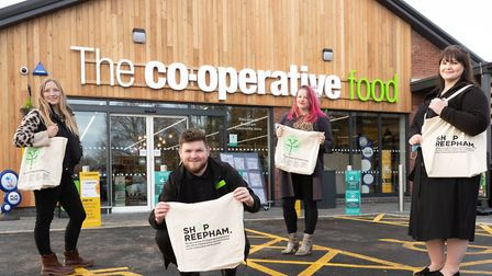 The store has supported Shop Reepham with funding with brand new canvas bags with a map to independe