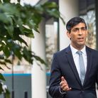 Chancellor of the Exchequer Rishi Sunak is interviewed via videolink for Sky News. Picture: Dominic