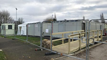 A new permanent Covid-19 test centre has been set up at Lynnsport. Picture: ELLA WILKINSON