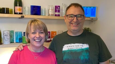 Sarah Babington and Paul Buckley, owners of Green Bottle Glass. Picture: submitted.