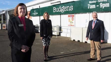 Manager Sandra Taylor-Meeds, left, with Jane Gurney-Read, CT Baker Group managing director and Nick
