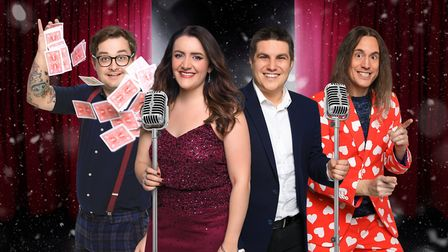 The cast of Christmas LIVE! due to perform at Beccles Public Hall. PHOTO: Beccles Public Hall and Th