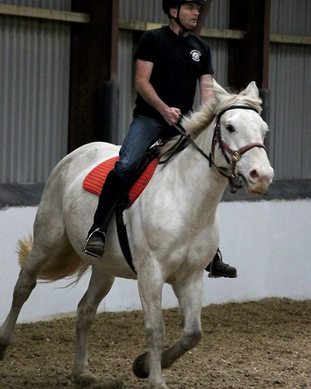 Colin Perriss, chair at the Mapgie Centre Riding for the Disabled at Wallington Hall, near Downham M
