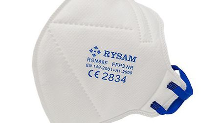 Respirator masks are accurately fitted to prevent inhalation through gaps in the side of the mask. P
