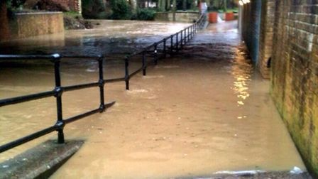 Flooding in an underpass at Halesworth