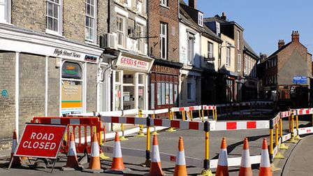 The Saturday Market Place, where the bones were discovered by contractors laying new gas mains.