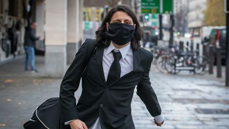 Nicholas Nelson exits Westminster Magistrates' Court in London after his sentencing, Nelson pleaded
