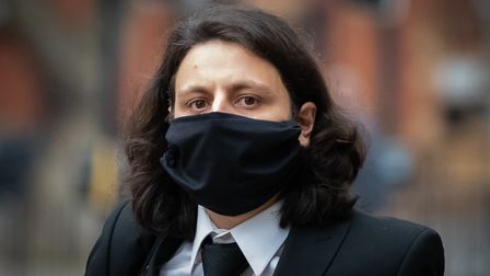 Nicholas Nelson arrives at Westminster Magistrates' Court in London for sentencing after pleading gu