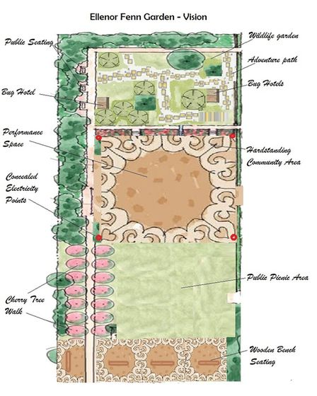 One vision for how the new garden may be designed. Picture: aboutDereham