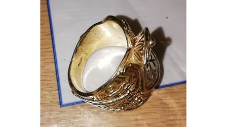 The gold vintage saddle ring found in Beccles.