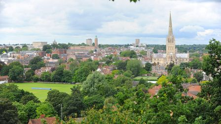 Ketts Heights, a hidden gem in Thorpe Hamlet, that affords an enviable view of Norwich. Friends of K