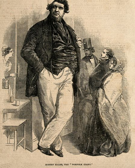 Robert Hales, The Norfolk Giant. Picture: Wellcome Collection