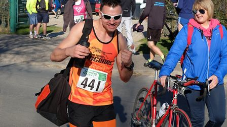 Photos from the 2014 Broadland Half Marathon. Pictured is Andrew Mulligan of Coltishall Jaguars. Pic