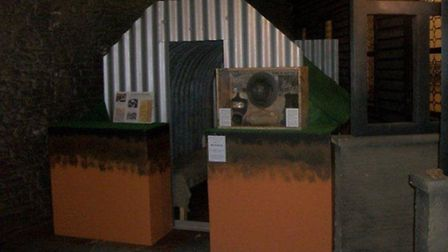 The Anderson shelter rennovated by Acle Academy students in place at Bressingham Museum. Picture: su