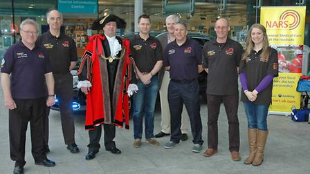 Lord Mayor of Norwich, Keith Driver, launches the Norfolk Accident Rescue Service fundraising campai