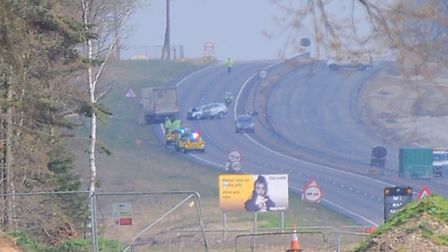 Emergency services are currently at the scene of a serious road traffic collision on the A11 at Mild