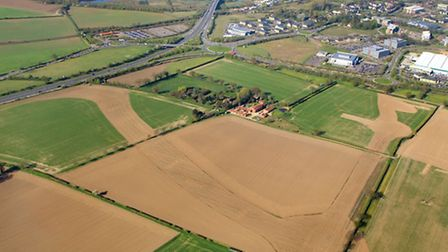 Postwick hub marked out across the fields. 27 April 2010; Picture: Mike Page