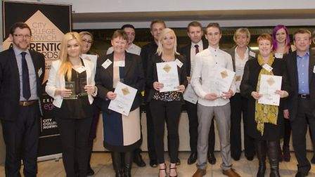 The winners of the City College apprenticeships awards