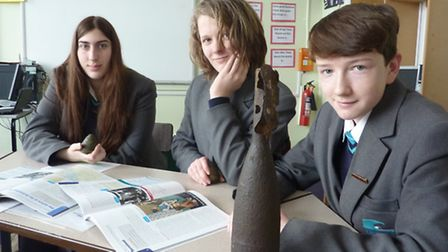 Cromer Academy battlefield trip students - Phoebe Gee, Jake Lomax, and Nathan Aldis recalling their