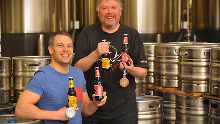 Taking some coveted medals from the Dublin Craft Beer World Cup - Redwell Brewery's Patrick Fisher a