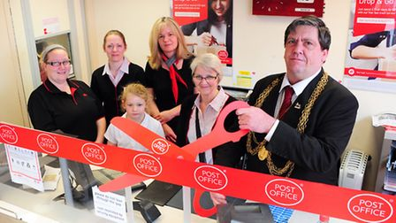 Lord Mayor Keith Driver launches the new look Tuckswood Post Office.Photo by Simon Finlay.