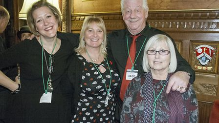 Jo Rust, Vivien Overland, Mervyn and Rosalie Wiles at the London launch.