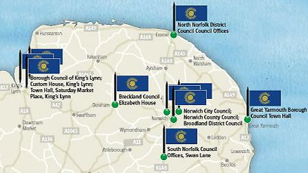 Places that will raise the Commonwealth Flag on Commonwealth day