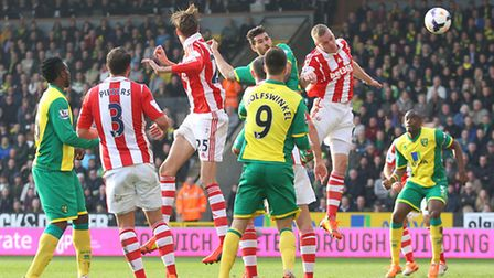 Bradley Johnson scores Norwich City's goal in the 1-1 draw with Stoke City - one of many topics disc