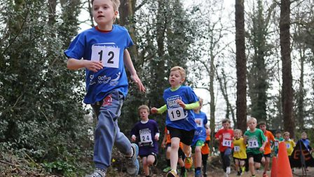 Cross country races as part of the School Winter Games at Gresham's School.PHOTO: ANTONY KELLY