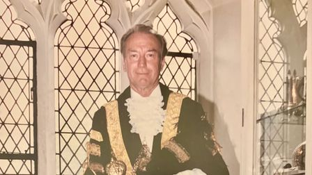Roy Durrant when he was Lord Mayor of Norwich in 1993-94.