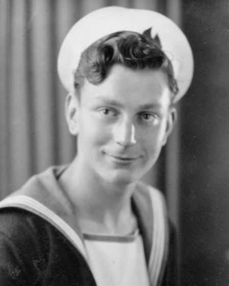 Roy Durrant aged 18 after joining the navy in 1949.