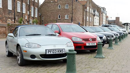 Car parked in the free parking bays on South Quay in King's Lynn. Picture: Matthew Usher.