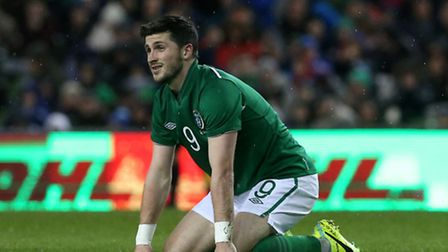 Republic of Ireland's Shane Long after going close in the second half during the international frien