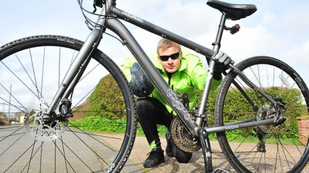 Charlie Trapp,13, has completed a 40 mile bike ride in memory of his late godmother Dawn Coy.