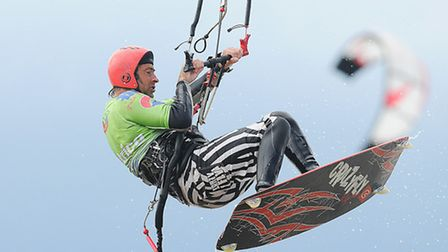 Kite surfing action at the Hunstanton Lifestyles Festival in 2011. Picture: Ian Burt.