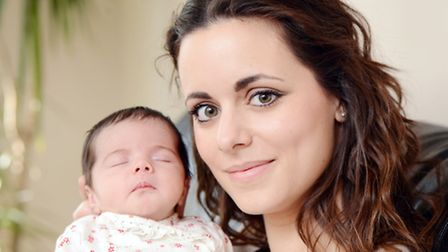 Samantha Stacey with her daughter Ruby Bocking. Picture: Matthew Usher.
