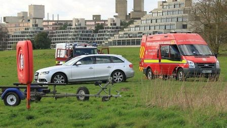 Emergency services at the UEA Broad. Photo: Xioayan Qin