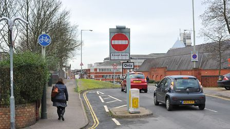 Cars and vans using the Brazengate bus illegally between 7.30-9.30am. Photo: Bill Smith