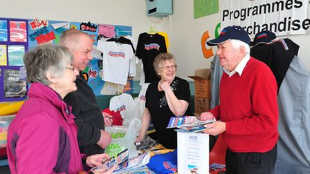 Brian Hunter with items from the Lowestoft Air Fesitval that are being sold to raise funds for Colvi