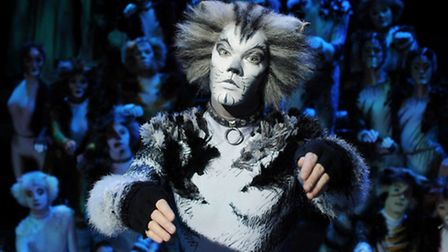 Ben Palmer as Munkustrap in the musical Cats, coming to Norwich Theatre Royal this week