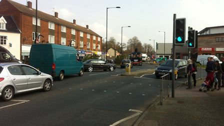 The pedestrian crossing near the Morrisons roundabout which is the subject of a study looking into c