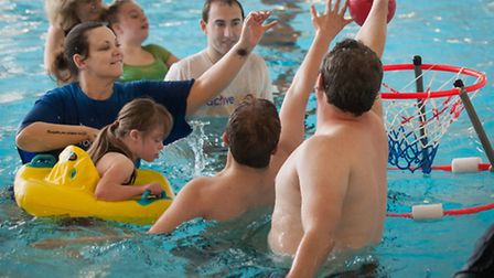 Active Norfolk youth games swimming festival for special schools. Photo: Bill Smith