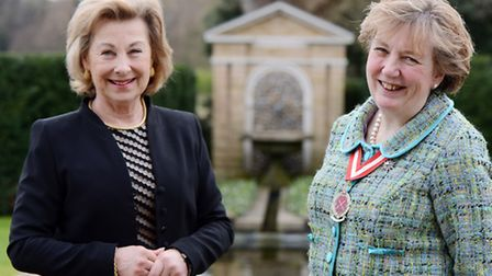 Pippa Dannatt (right) has took over the duties of High Sheriff of Norfolk from the Countess of Leic
