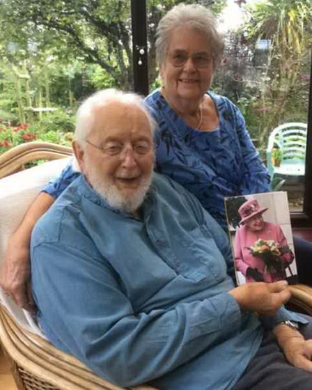Ken and Brenda Davis, who are holding a card from the Queen, celebrated their 65th wedding anniversary on October...