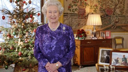 Queen Elizabeth II recording her Christmas Day message at Buckingham Palace. Christmas will be diffe