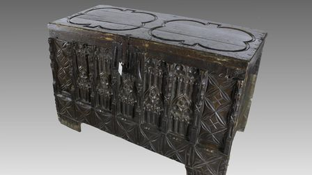 A medieval wooden chest from St Margaret's Church, Norwich