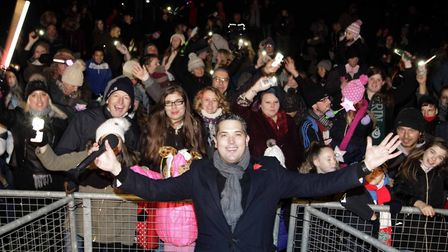 Magician Michael J Fitch entertaining at a previous fireworks display in Colchester's Castle Park Picture: ARCHANT