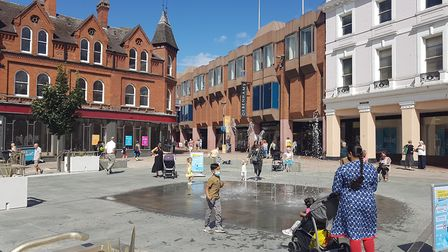 Ipswich town centre recovering from lockdown in August Picture: PAUL GEATER