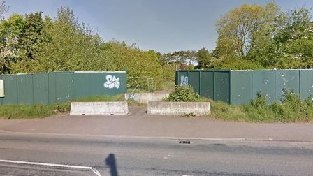 The plot next to Tesco in Salterton Road where McCerthy and Stone want to build a 59-bed extra care accomodation block.